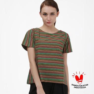 Batik Dirga Blusha Atasan Wanita - Green