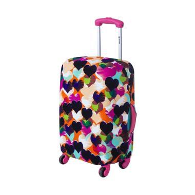 Homestuff Love Luggage Cover Elastis Sarung Pelindung Koper Size M 22 Inch
