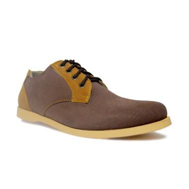 D-Island Shoes Loafer Suede Sepatu Casual Pria - Brown