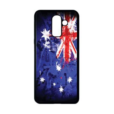harga HEAVENCASE Motif Bendera Australia 11 Casing for Samsung Galaxy J8 - Hitam Blibli.com