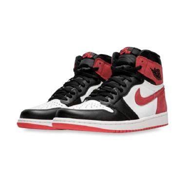 hot sale online 83495 ad150 NIKE Jordan 1 High OG Track Sepatu Basket Pria - Black Red