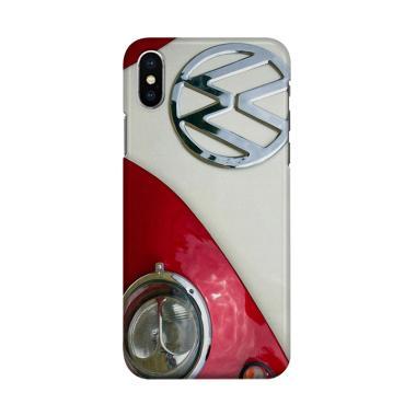 harga Indocustomcase Red VW Combi 2 Cover Hardcase Casing for iPhone X Blibli.com