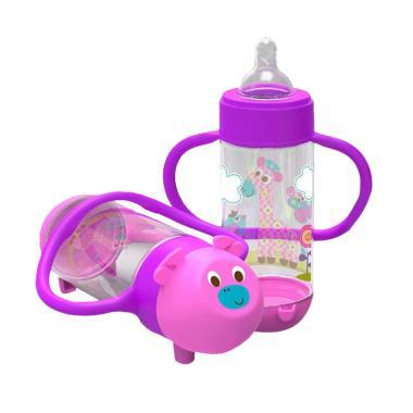 Baby Safe Botol Susu / Feeding Bottle With Handle 250 ml AP004 - Purple Purple