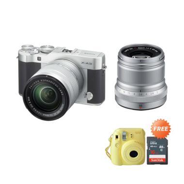 Fujifilm X-A3 Kit 16-50mm Kamera Mi ... i 8 & Memory Card [16 GB]