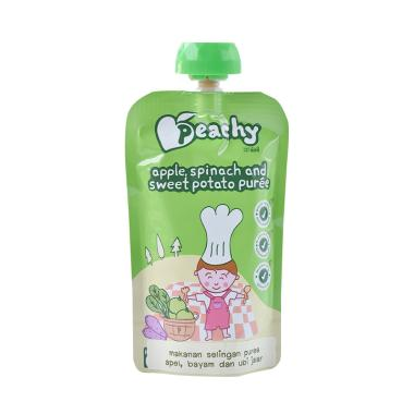 Peachy Apple Spinach and Sweet Potato Puree Cereal Bayi
