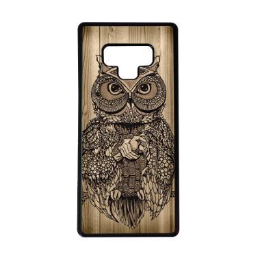 harga HEAVENCASE Motif Burung Kayu Owl Wood Softcase Casing for Samsung Galaxy Note9 - Hitam Blibli.com