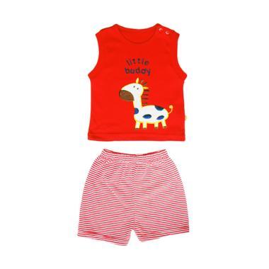 PLEU Little Buddy Setelan Baju Bayi Laki-Laki