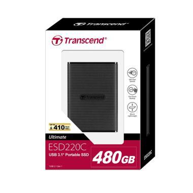 Transcend ESD220C Portable External SSD [480 GB/ USB 3.0 Type C]