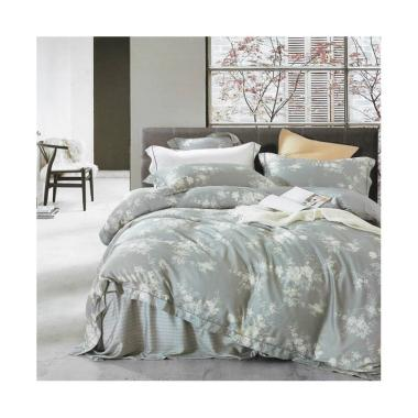Depo Sprei Griss Flower Tencel Set Sprei dan Bed Cover