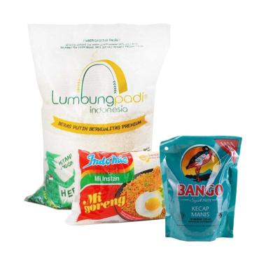 Lumbung Padi Paket Sembako 4: Lumbung Padi Beras [5 Kg] + Indomie Mie