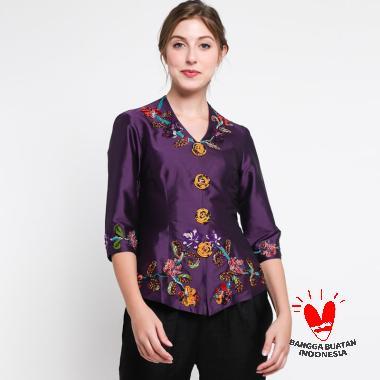 Lombang Batik Kebaya Bunga Atasan Wanita