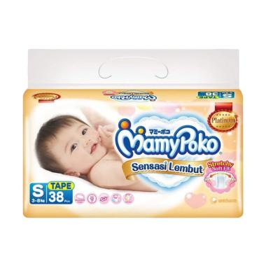 MamyPoko Diapers Sensasi Lembut Popok Bayi [Size S/ 38 pcs]