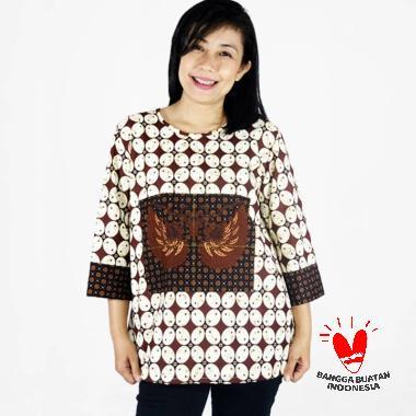 harga clandestine.id Motif Kawung Garuda Batik Atasan Wanita Blibli.com