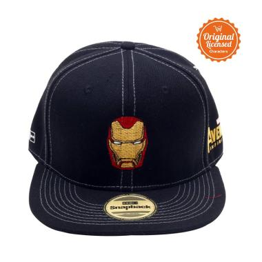 Marvel Bordir Ironman Topi Hiphop Pria - Black. Rp 349.900 62a80c0748