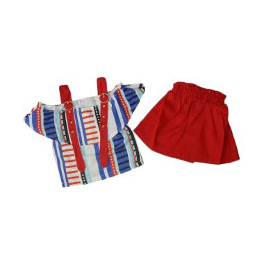 VERINA BABY Sabrina Stelan Baju Anak - Biru Merah
