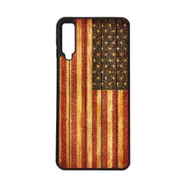 harga HEAVENCASE Motif Bendera Amerika 14 Softcase Casing for Samsung A7 2018 - Hitam Black Blibli.com