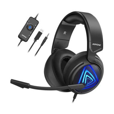 harga MPOW MPBH318AD EG8 Over Ear Gaming Headset [Noise Cancelling] Grey/Black Blibli.com