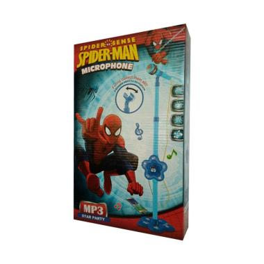 DND Shop Super Voice Music Microphone Spiderman Mainan Anak