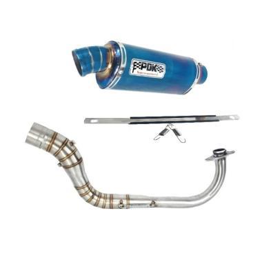 harga PDK Oval Knalpot Racing Motor for Yamaha Mio M3 - Blue Blibli.com