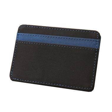 harga Bluelans Mens Fashion Faux Leather Magic Credit Card ID Money Clip Slim Wallet Holder Blibli.com