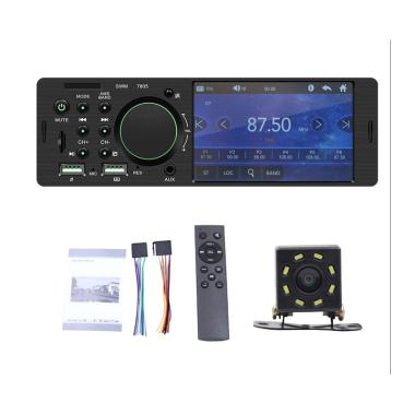 harga Bluelans 7805 Single Din Car FM Radio Bluetooth USB AUX Stereo Video MP5 Player with 8-LED Rear Camera [ 4.1 Inch] Blibli.com