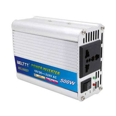 harga Bluelans Car Correction Wave Power Inverter Metal Voltage Transformer Converter [12V to 220V/ 500W] Blibli.com