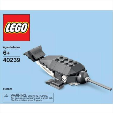 LEGO Polybag 40239 Monthly Mini Model Narwhal