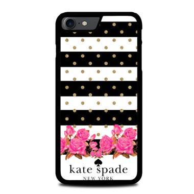 harga Hardcase Casing Custom iPhone 7 Black white stripes gold spots pink Kate Spade Z4856 Case Cover Blibli.com