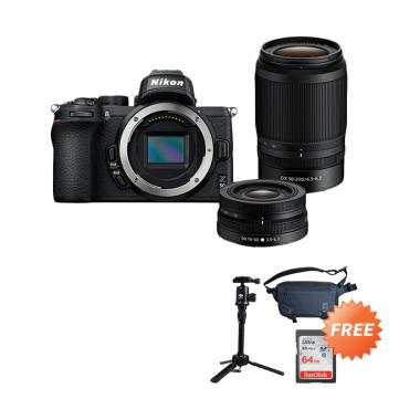 harga Pre Order - Nikon Z 50 Mirrorless Digital Camera with 16-50mm + 50-250mm Lens + Free Sandisk 64GB + Sirui Tripod + Tas Blibli.com
