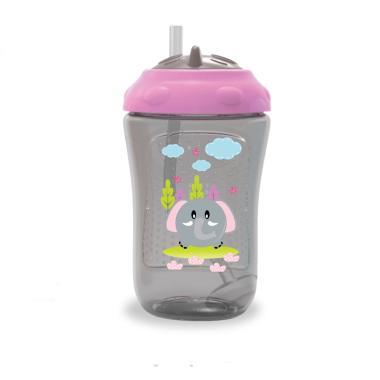 harga Baby Safe Cup Weighted Straw 300ml FS405 Botol Minum Anak / Botol Susu Bayi Abu abu Blibli.com