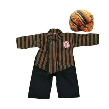 harga Busana Adat Jawa - Pakaian Adat Jawa - Setelan Baju Surjan / Tenun Lurik Anak Laki-Laki [Surjan + Celana + Blangkon Solo] Blibli.com