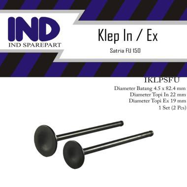 harga IND Onderdil In-Ex Set Klep Motor for Suzuki Satria FU 150 [2 pcs] HItam Blibli.com