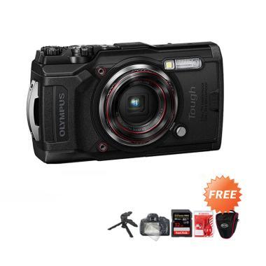harga Olympus Tough TG-6 Kamera Pocket + Free ScreenGuard + Tripod Mini + Memori 32GB + Cleaning Kit + Tas Kamera hitam Blibli.com