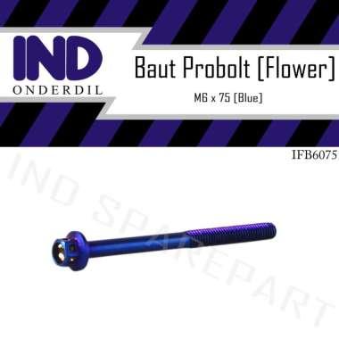 harga IND Onderdil Baut Probolt Flower M6x75 Kunci 8 - Blue Blibli.com