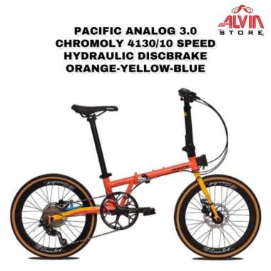 PACIFIC BIKE 4130/10 Sepeda Pacific Analog 3.0 Chromoly Speed Hydraulic Discbrake