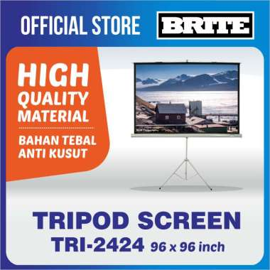 harga Brite Screen Tripod TRI - 2424 Proyektor Layar Projector Blibli.com