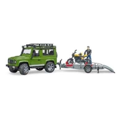 harga Bruder 2589 - Land Rover Defender, trailer + Scrambler Ducati Full Throttle Blibli.com
