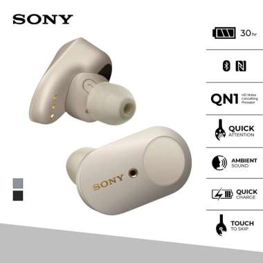 Sony WF-1000XM3 Truly Wireless Handsfree Noise Cancelling Battery up to 24h - Silver TWS Bluetooth Earbuds Handsfree Silver