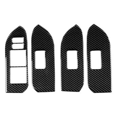 harga Carbon Fiber Door Windows Lock Trims Button Decoration For Toyota 10-18 - Blibli.com
