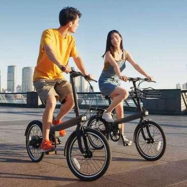 harga Xiaomi QiCycle EC1 Sepeda Elektrik Smart Bicycle 20 Inches - TDP02Z - Blibli.com