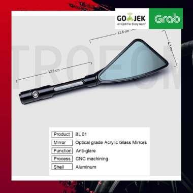 harga AKSESORIS MOTOR NMAX AEROX PCX DUCATI MOGE TOMOK - Kaca Spion Motor CNC Aluminium Rearview Mirror HITAM Blibli.com