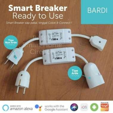 harga BARDI Smart Breaker Siap Pakai Saklar Otomatis On Off WiFi White Blibli.com