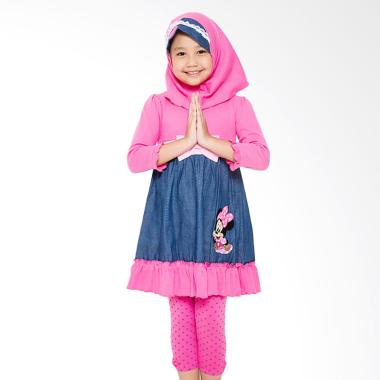 4 You Long Dress Baju Muslim Anak - Fuschia