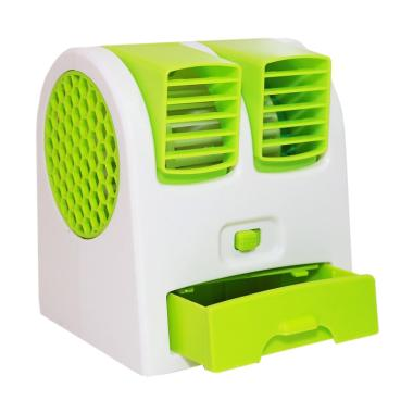 Goshop Mini AC Portable Double Fan - Hijau