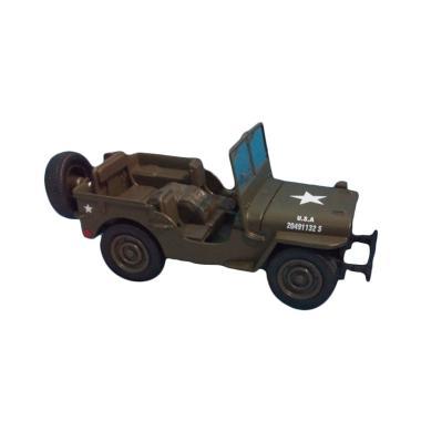harga NewRay Jeep Willys Diecast - Green Army [1 : 36] Blibli.com