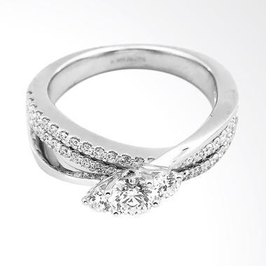 Lino P1610100007 18K VVS-T Cincin Berlian Emas Putih
