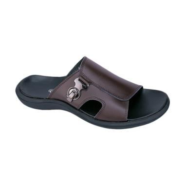 Raindoz Deacon RTU 014 Sandal Kulit Pria - Coklat