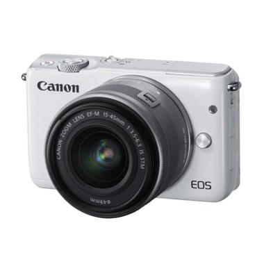 Canon EOS M10 Kit 15-45 IS STM White (Resmi PT Datascrip)
