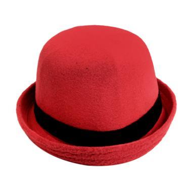 Elfs Shop Caplin Topi Fedora - Merah Cabe