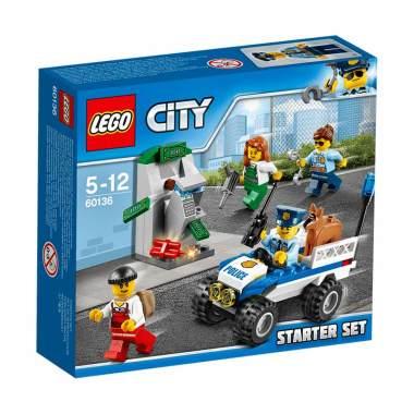 LEGO City 60136 Police Starter Set Mainan Blok